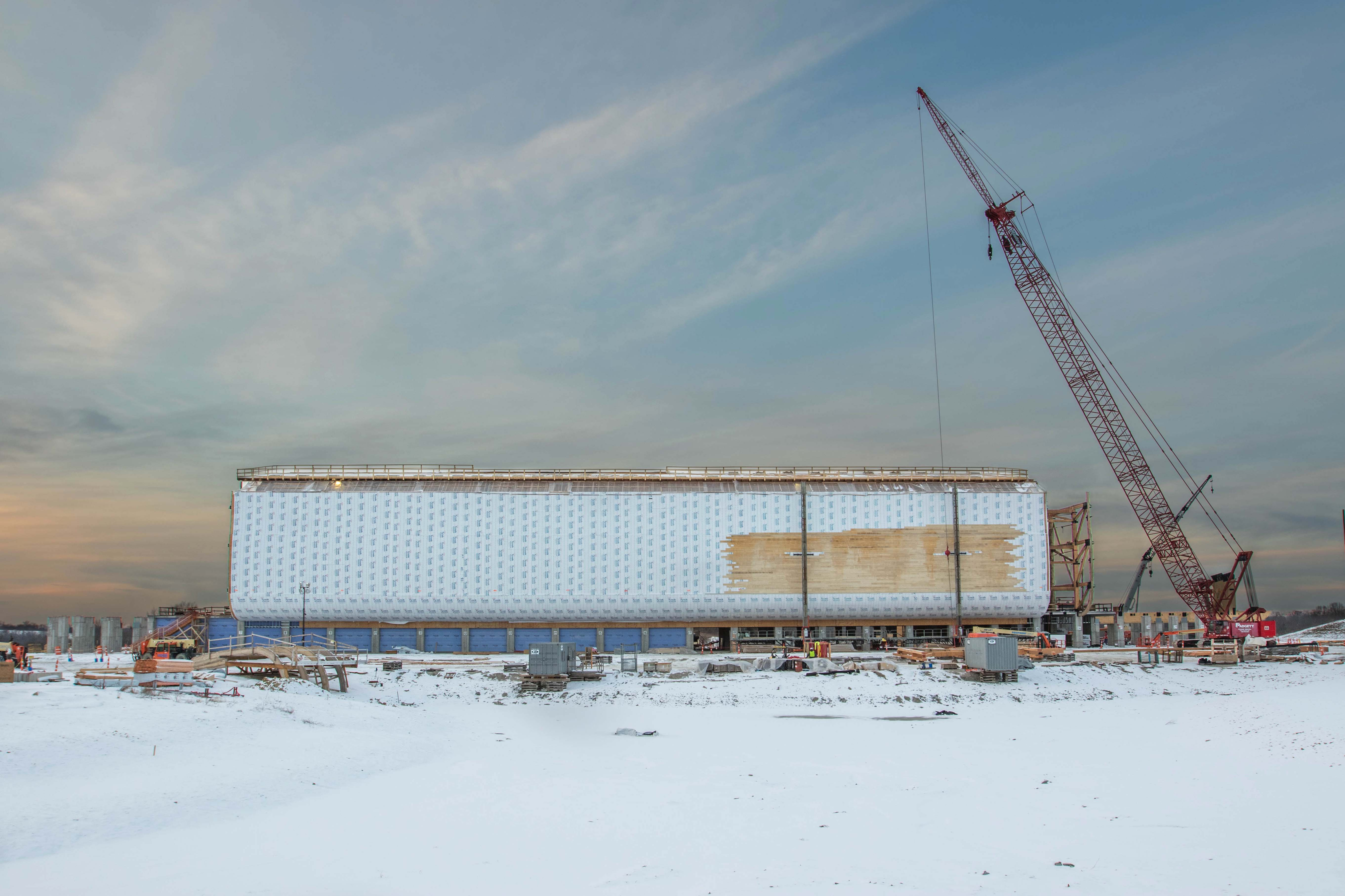 Snow days at the Ark Encounter construction site